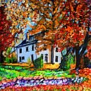 Autumn Farmhouse Poster