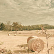 Autumn Farming And Agriculture Landscape Poster