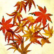 Autumn Flury Poster by Rebecca Cozart