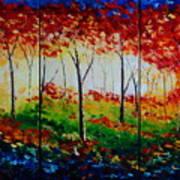 Autumn Glade Poster