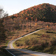 Autumn Hill Near Hancock Maryland Poster