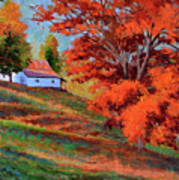 Autumn Hillside Poster