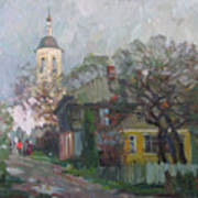 Autumn In Old City Poster