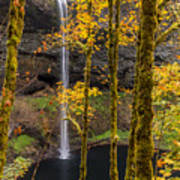 Autumn In Silver Falls Poster