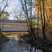 Autumn In Valley Forge - Knox Covered Bridge Poster