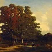 Autumn Landscape 1850 Poster