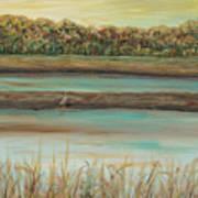 Autumn Marsh And Bird Poster