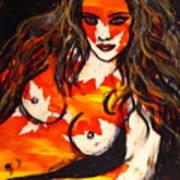 Autumn Nude Poster