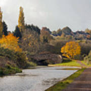 Autumn On The Canal Poster
