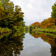 Autumn On The Erie Canal Poster