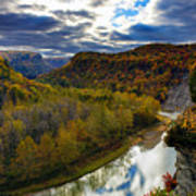 Autumn On The Genesee Poster