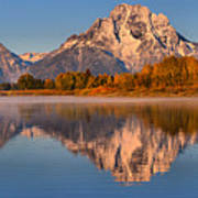 Autumn Oxbow Bend Reflections Poster