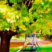 Autumn Playground Poster