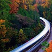 Autumn Rails Poster