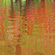 Autumn Reflections Abstract Poster