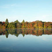 Autumn Reflections At Belmont Lake Poster