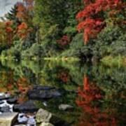 Autumn River Landscape Poster