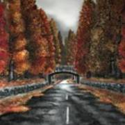 Autumn Road Poster