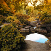 Autumn Rock Garden Poster