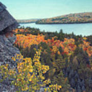 Autumn Rocks Booth's Rock Lookout Poster