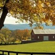 Autumn Shenandoah Barn Poster