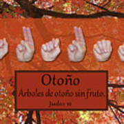Autumn Spanish Poster