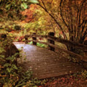 Autumn Splendor Bridge Poster