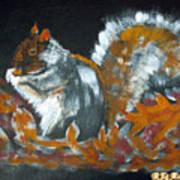 Autumn Squirrel Poster
