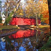 Autumn Sunrise Bridge II Poster