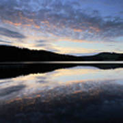 Autumn Sunset, Ladybower Reservoir Derwent Valley Derbyshire Poster