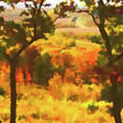 Autumn View, Montelle Winery, Augusta, Missouri Poster