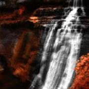 Autumn Waterfall 3 Poster