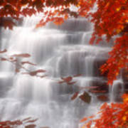 Autumn Waterfall I Poster