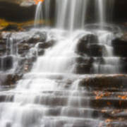 Autumn Waterfall II Poster