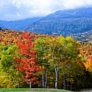Autumn White Mountains Nh Poster