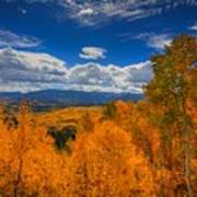 Autumn Wildfire At Ohio Pass Poster