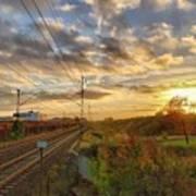 Autumn's Sunset Poster