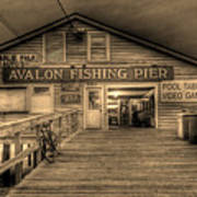 Avalon Fishing Pier Poster