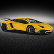 Aventador Lp 750-4 Sv New Giallo Orion Poster