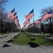 Avenue Of 444 Flags Poster