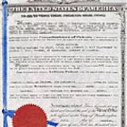 Aviation Patent, 1911 Poster