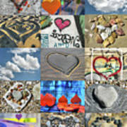 Awesome Hearts - Collage Poster