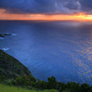 Azores Islands Sunset Poster
