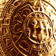 Aztec Gold Photograph Poster