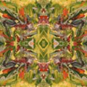 Aztec Kaleidoscope - Pattern 001 - Desert Poster