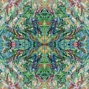 Aztec Kaleidoscope - Pattern 018 - Earth Poster