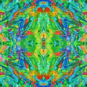 Aztec Kaleidoscope - Pattern 025 Poster