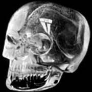 Aztec Rock Crystal Skull Poster