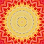 Aztec Sunburst Poster