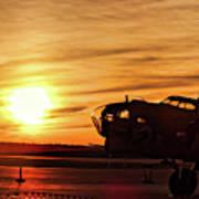 B 17 At Sunset Poster